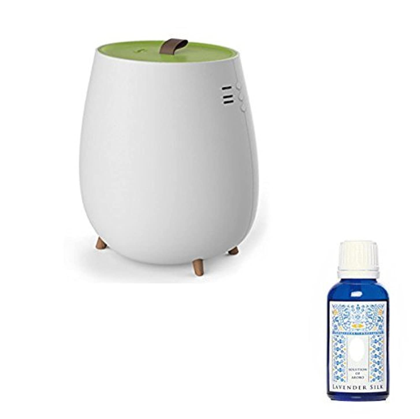 リングレット汚染プラットフォームアロマ加湿器 超音波加湿器 2.3L セラヴィ アロマソリューション付 CLV-296 グリーン