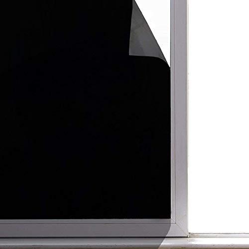 真っ黒 高遮光 窓用フィルム 目隠し 遮光シート uvカット ガラスフィルム 日よけ 断熱 防犯 飛散防止 防虫忌避 めかくし シート シール 貼ってはがせる 外から見えない 網ガラスも適用(90x200cm)