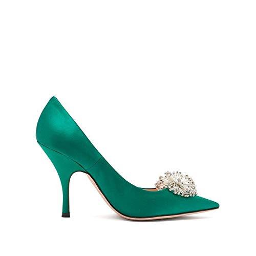 [ロシャス] レディース シューズ・靴 パンプス Crystal-embellished satin pumps [並行輸入品]