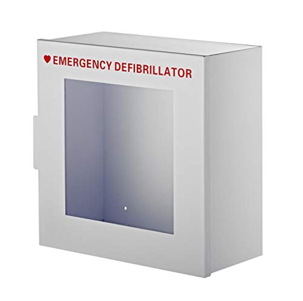 辞任するパンフレット逆説AdirMed 非アラームスチールキャビネットディファイブリレーター 幅15インチ x 高さ15インチ x 7インチ 標準壁取り付けエンクロージャー ホーム&オフィス用緊急事態収納