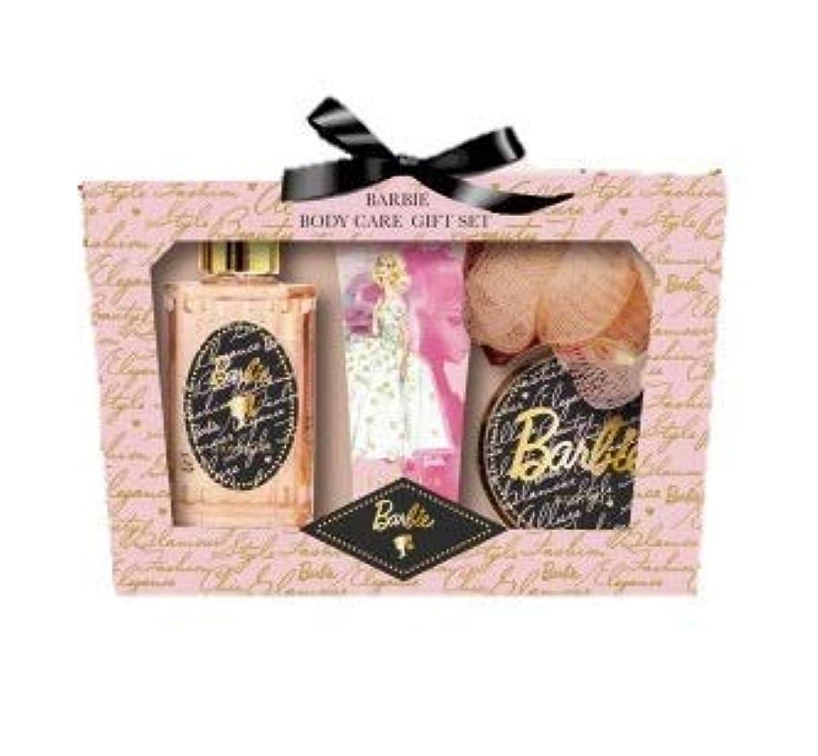 グラスフォーカスたぶんヒューマンリンク Barbie (バービー) ボディケア ギフトセット (ローズ&ピオニーの香り) プレゼント [ハンドクリーム/シャワージェル/バスソルト/スポンジ] 入浴剤 バススポンジ ボディソープ