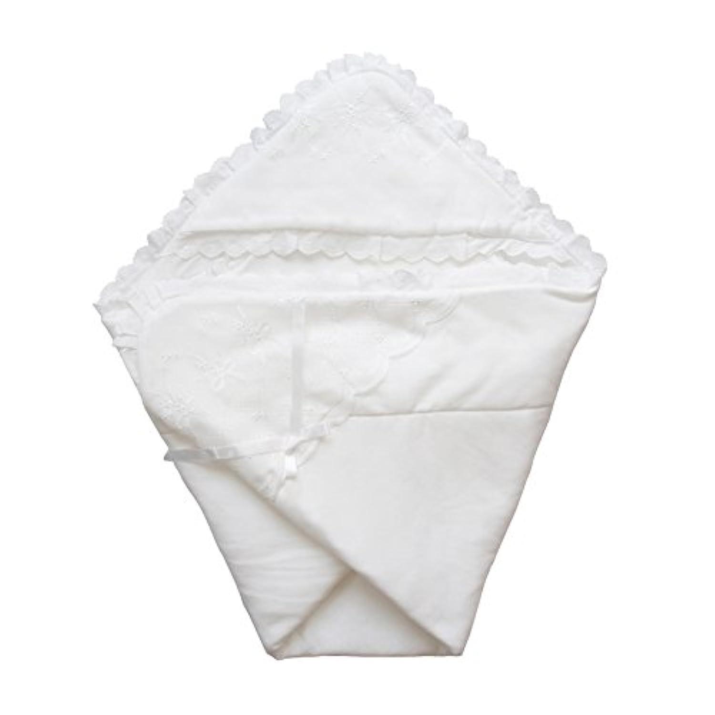 日本製 春秋素材 新生児のお宮参り退院時用おくるみ ベビーアフガン