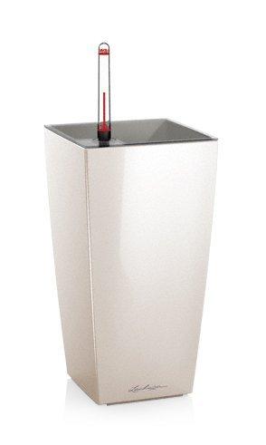 LECHUZA(レチューザ) MAX CUBI(マックスキュービ) 幅13.5cm 底面灌水セット付きプランター ホワイト LE-1010W-1