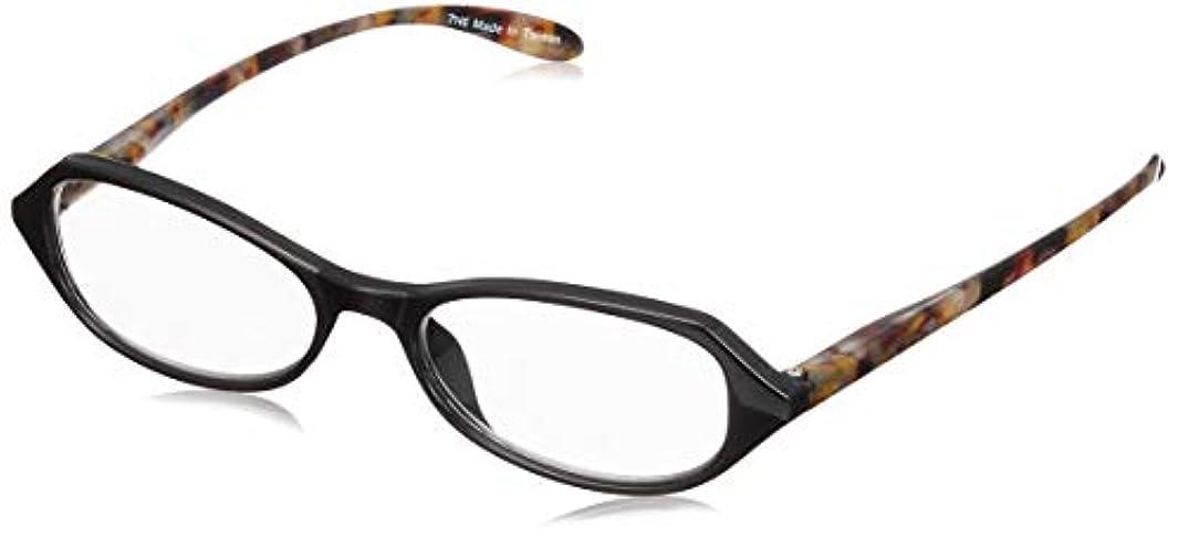 見ましたタイマー所有者フィールドワーク 老眼鏡 レディース 1.0 度数 ブルーライトカット プラスチックフレーム AN091-BR +1.00