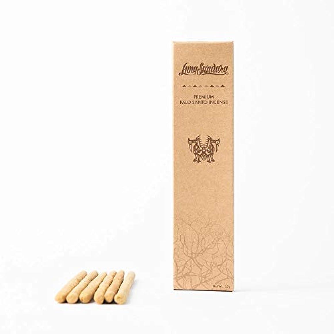 楽しいシティ感謝するルナスンダラ (Luna Sundara) Premium Palo Santo Hand Rolled Incense Sticks プレミアム パロサント ハンドロールインセンスお香[6本入りBOX]
