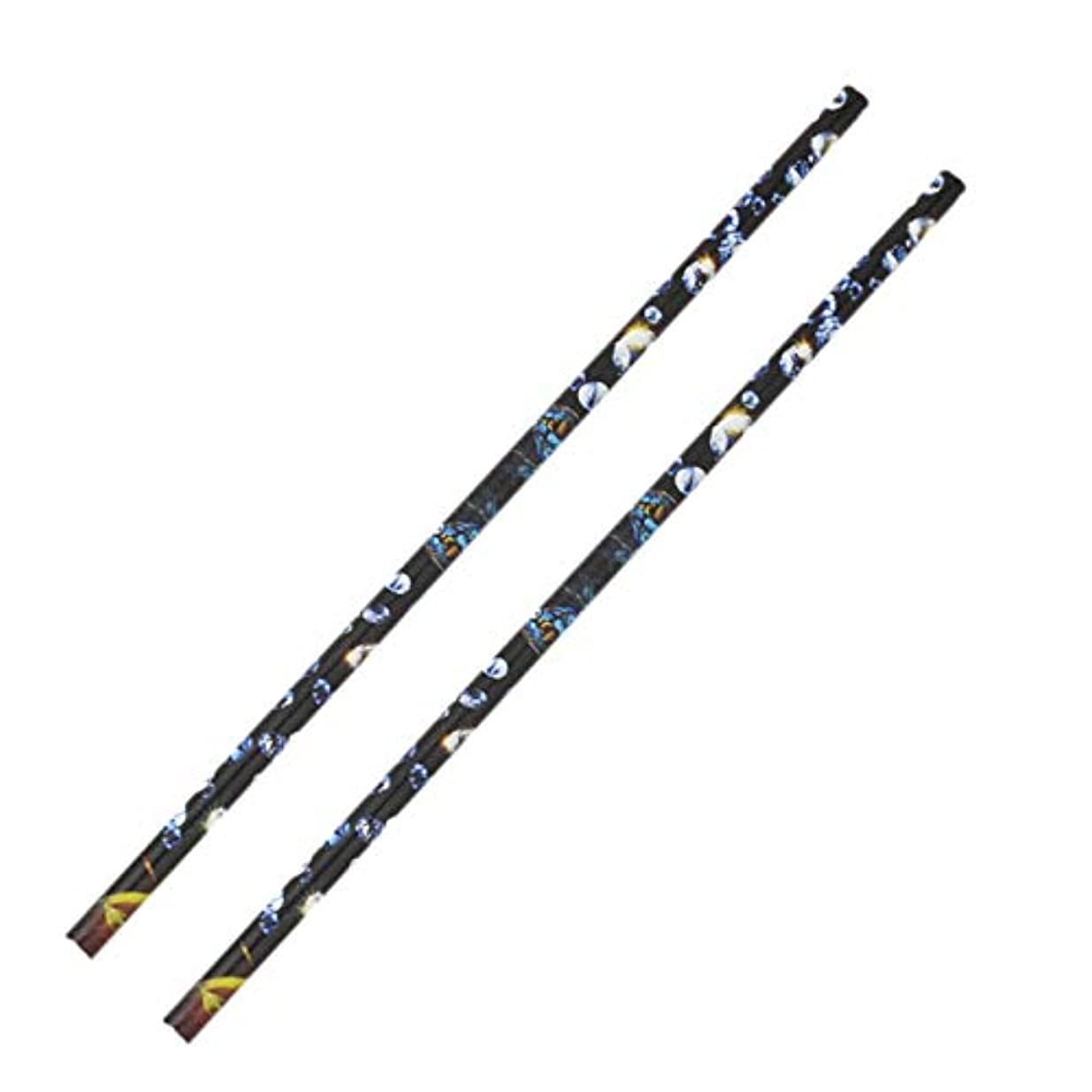 櫛スポーツをする良心的Gaoominy 2個 クリスタル ラインストーン ピッカー鉛筆ネイルアートクラフト装飾ツール ワックスペンDIYスティッキードリルクレヨンラインストーンスティックドリルペン マニキュアツール