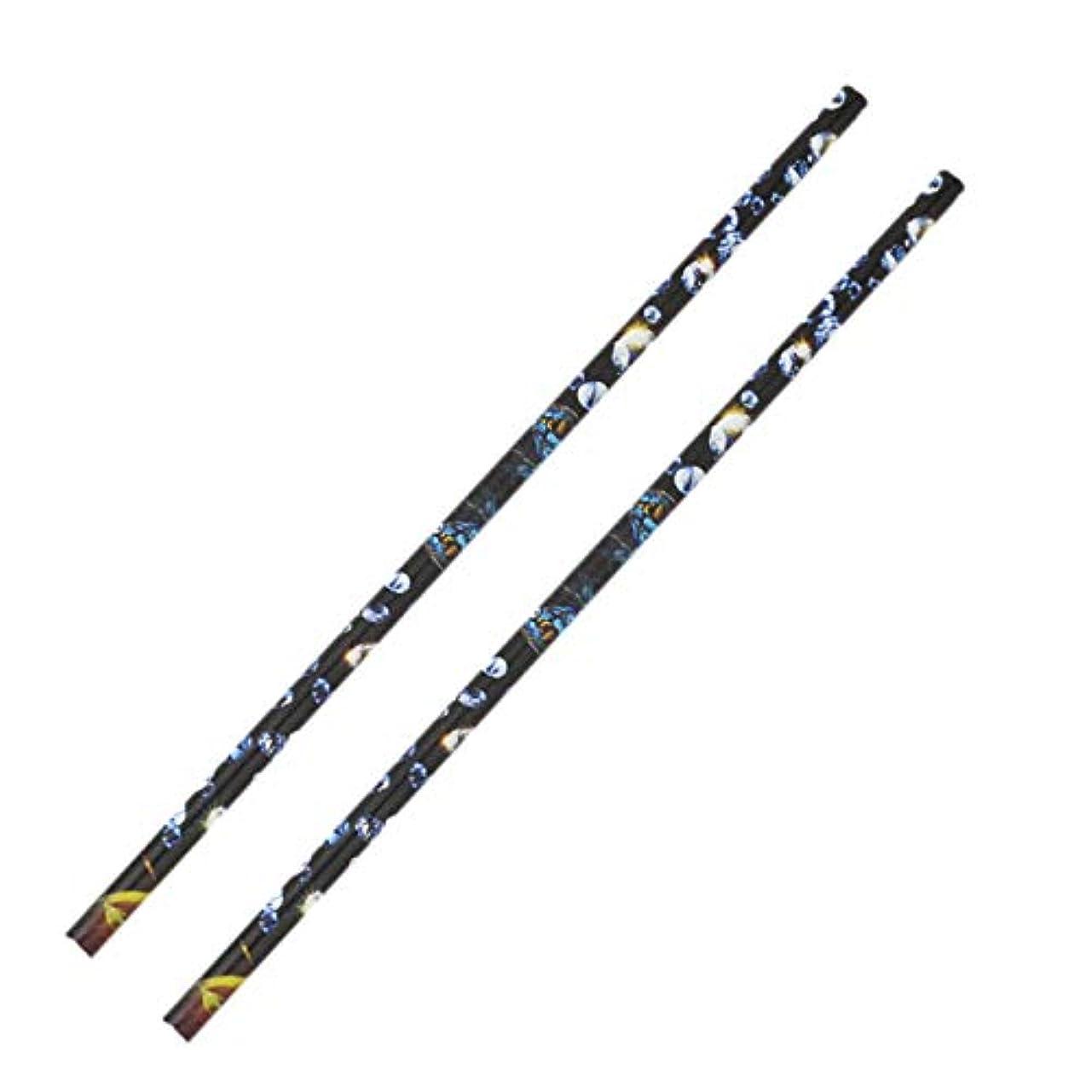 大騒ぎ分布本質的にCUHAWUDBA 2個 クリスタル ラインストーン ピッカー鉛筆ネイルアートクラフト装飾ツール ワックスペンDIYスティッキードリルクレヨンラインストーンスティックドリルペン マニキュアツール