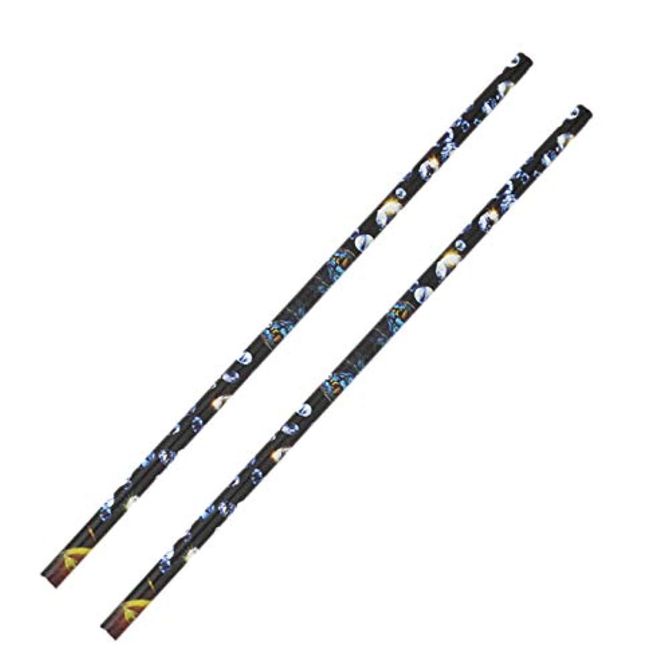 バスト経験処分したACAMPTAR 2個 クリスタル ラインストーン ピッカー鉛筆ネイルアートクラフト装飾ツール ワックスペンDIYスティッキードリルクレヨンラインストーンスティックドリルペン マニキュアツール