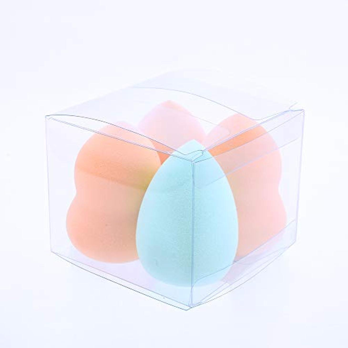 繰り返すタック従順なKAYSON メイクアップ スポンジパフ 化粧 メイク パフ プロ 用 スポンジ ファンデーション (4個 涙型 ひょうたん型 セット)