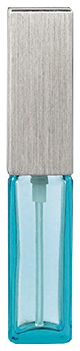 問い合わせ自然テナント15493 メンズアトマイザー角ビン ブルー キャップ ヘアラインシルバー