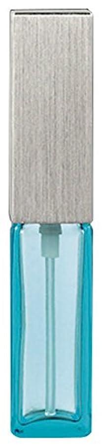 フリル本質的に六15493 メンズアトマイザー角ビン ブルー キャップ ヘアラインシルバー