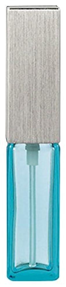 心のこもった軽減礼儀15493 メンズアトマイザー角ビン ブルー キャップ ヘアラインシルバー
