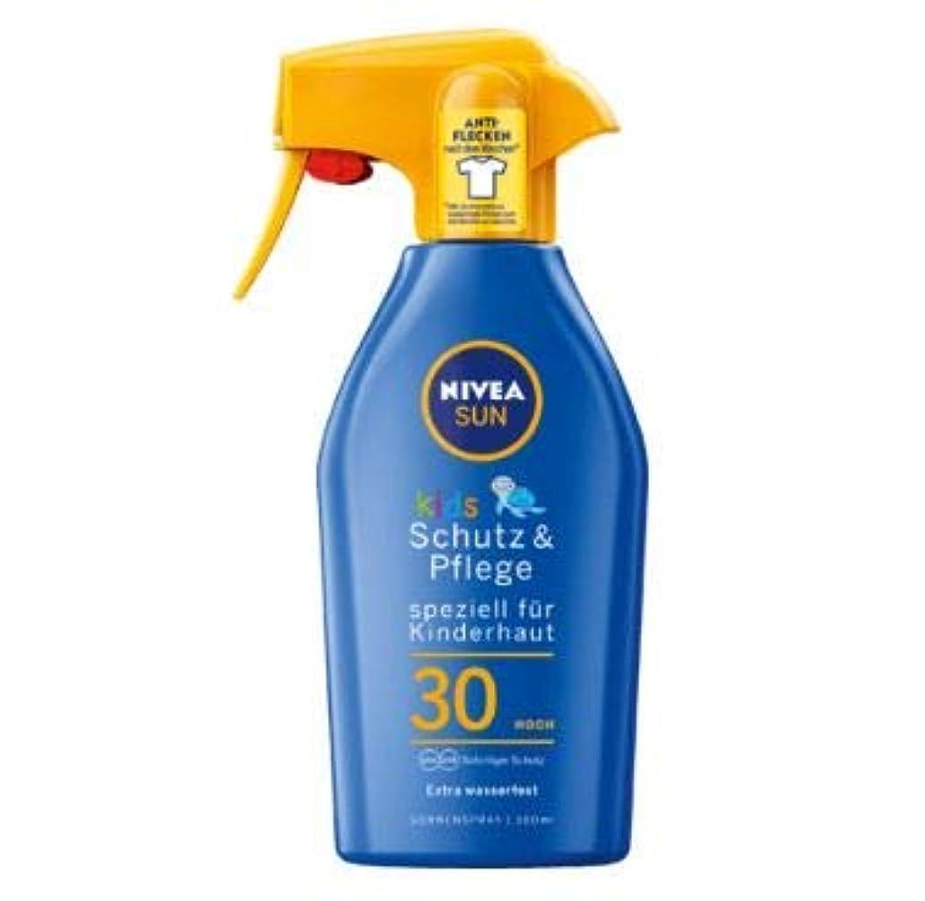 交換可能香ばしい無臭ニベア Nivea Sun 日焼け止め スプレー 子供用 300ml SPF30+ [並行輸入品]