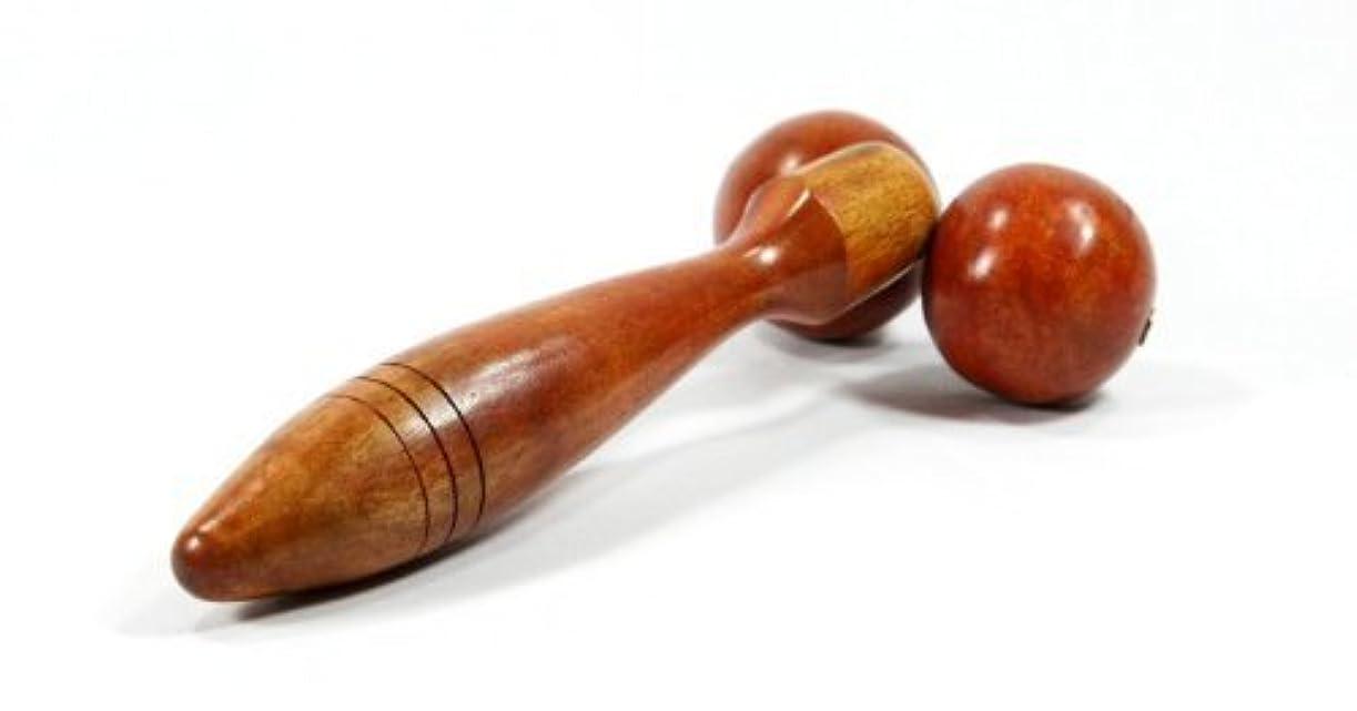 ペア成長する大いにWooden Thai Wood Double Roller Massage Stick Ball Massager Body by KP Mart [並行輸入品]