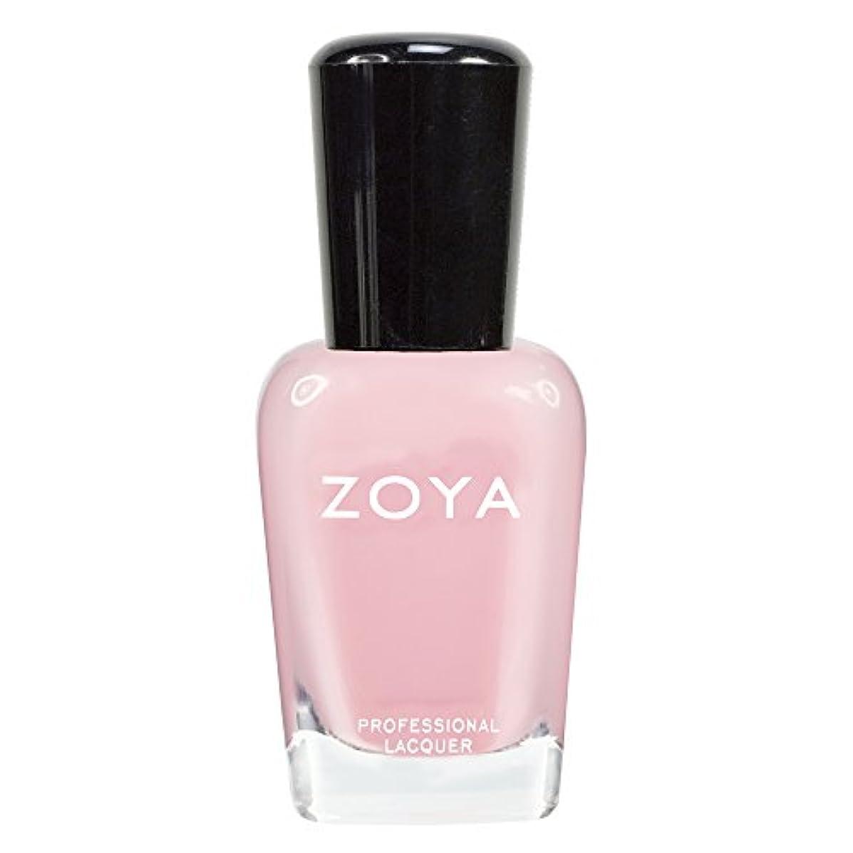 発症発音する固体ZOYA ゾーヤ ネイルカラーZP433 LAURIE ローリー 15ml 可愛く色づく桜の花ようなピンク シアー/クリーム 爪にやさしいネイルラッカーマニキュア