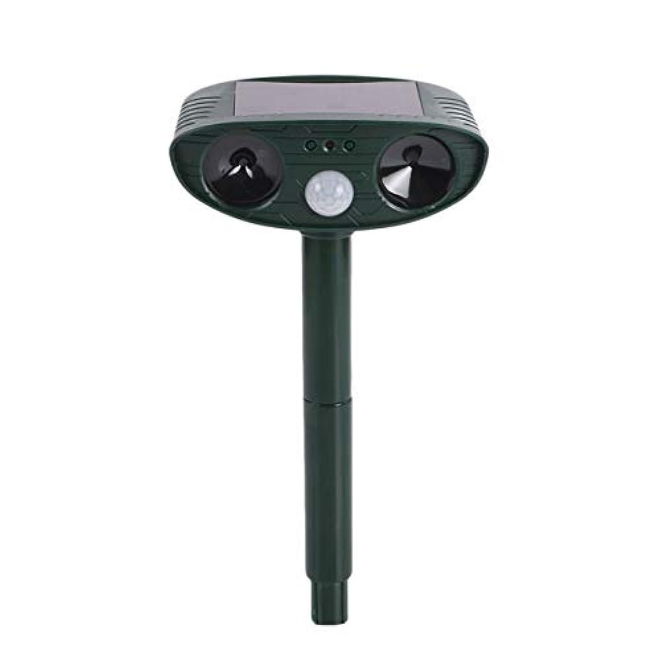 引き算電池鏡Saikogoods 屋外ガーデニングのための動物の超音波猫犬のリペラ怖がら動物511を活性化したソーラーモーション 黒