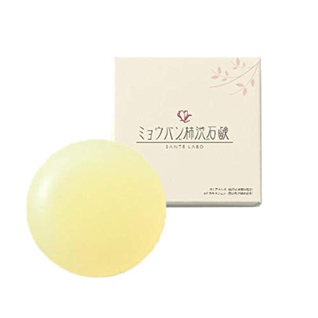 バクテリア小道慣れる【単品】ミョウバン柿渋石鹸(ナチュラルクリアソープ) (01個)