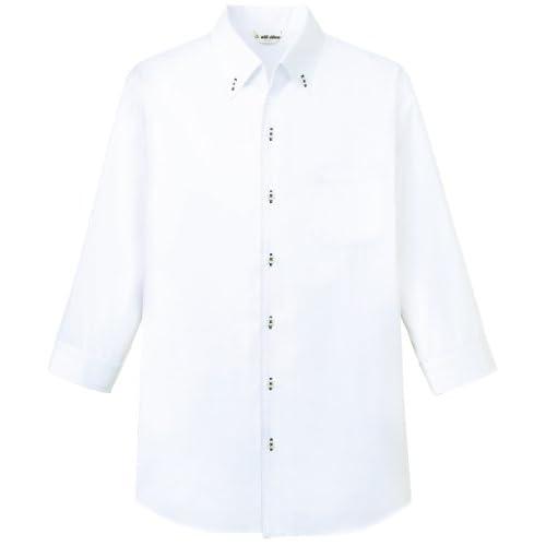 [チトセ]chitose【ボタンダウンシャツ(七分袖)】動きやすい首まわり《031-EP-7823》 (LL, C-1 ホワイト)