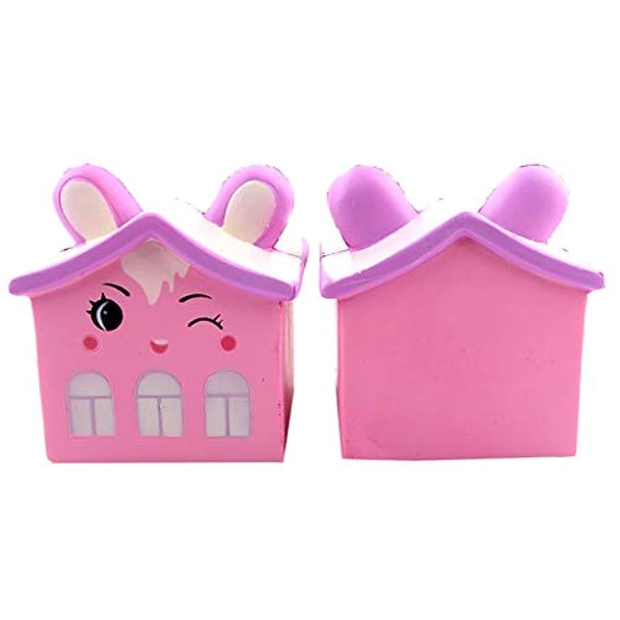 似ているクリックフライカイトGOOD lask 楽しい漫画くまの家、子供の大人のための遅い跳ね返り圧縮減圧おもちゃ装飾コレクション (ピンク)