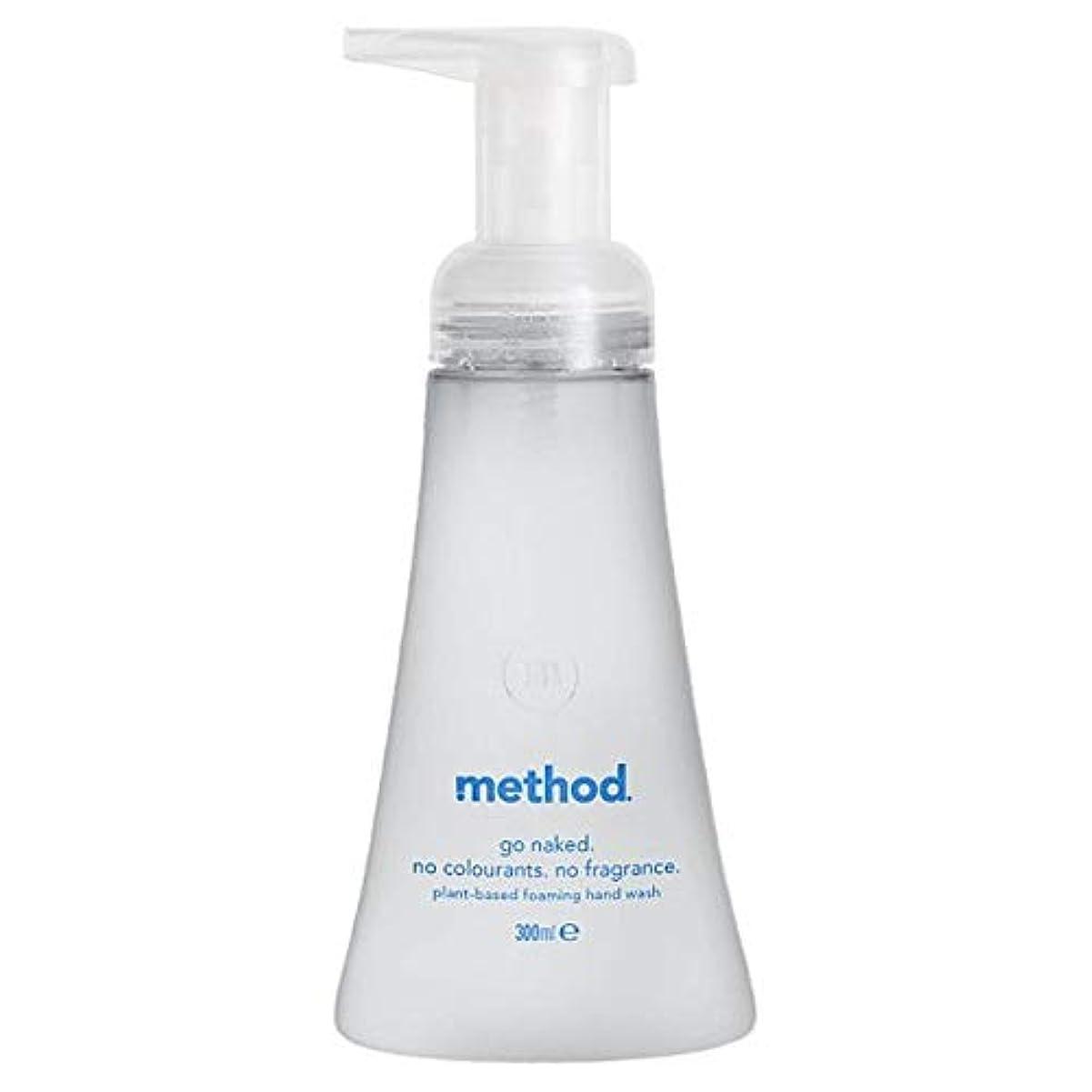 適応する疼痛回転する[Method ] メソッド裸発泡手洗いの300ミリリットル - Method Naked Foaming Handwash 300Ml [並行輸入品]
