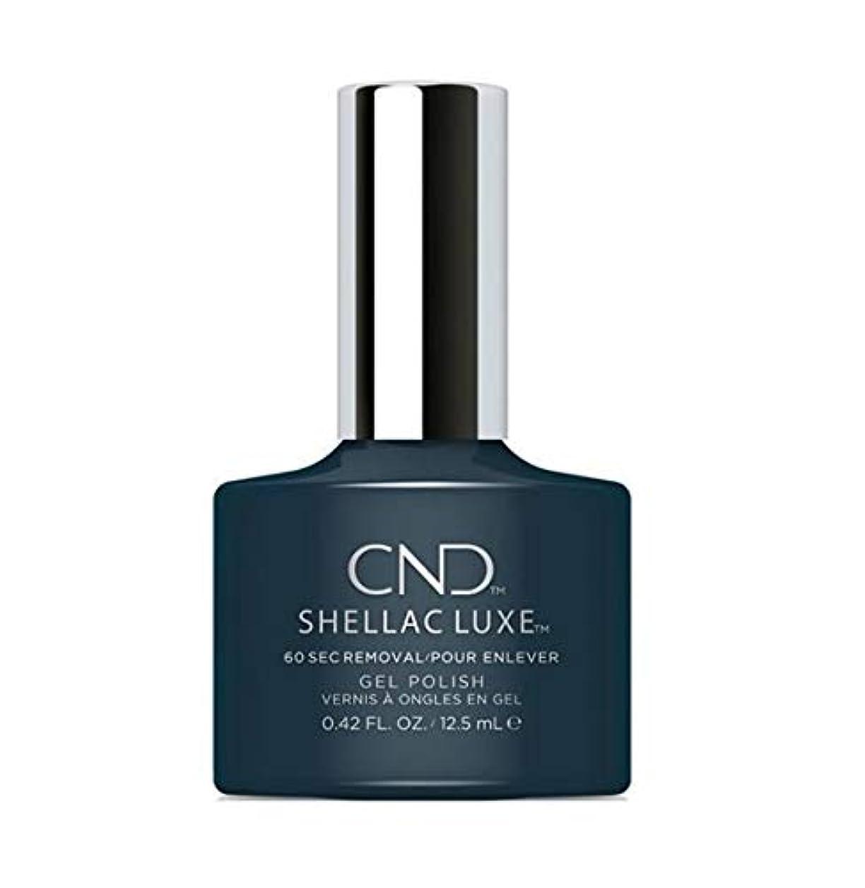 実際に感謝彫刻CND Shellac Luxe - Indigo Frock - 12.5 ml / 0.42 oz