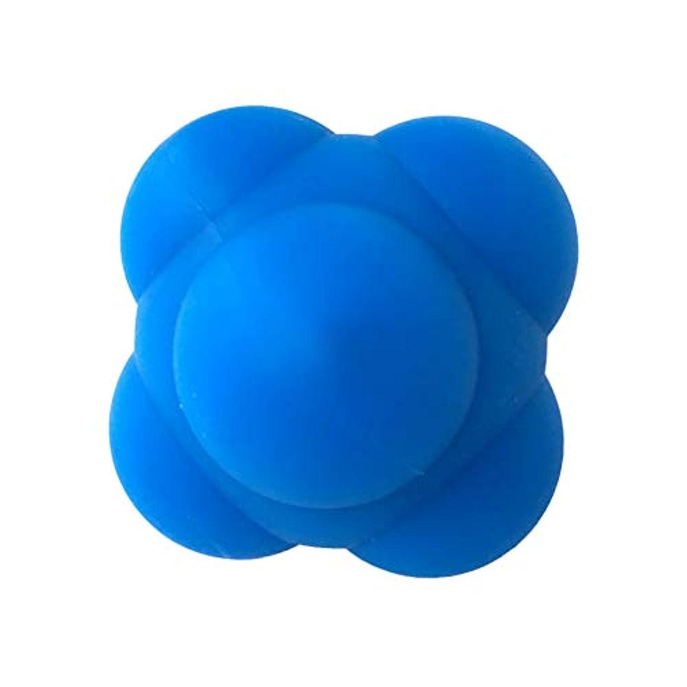 略奪前奏曲マナーHealifty 体の管理ボールスポーツシリコン六角形のボールソリッドフィットネストレーニングエクササイズリアクションボール素早さと敏捷性トレーニングボール6cm(青)