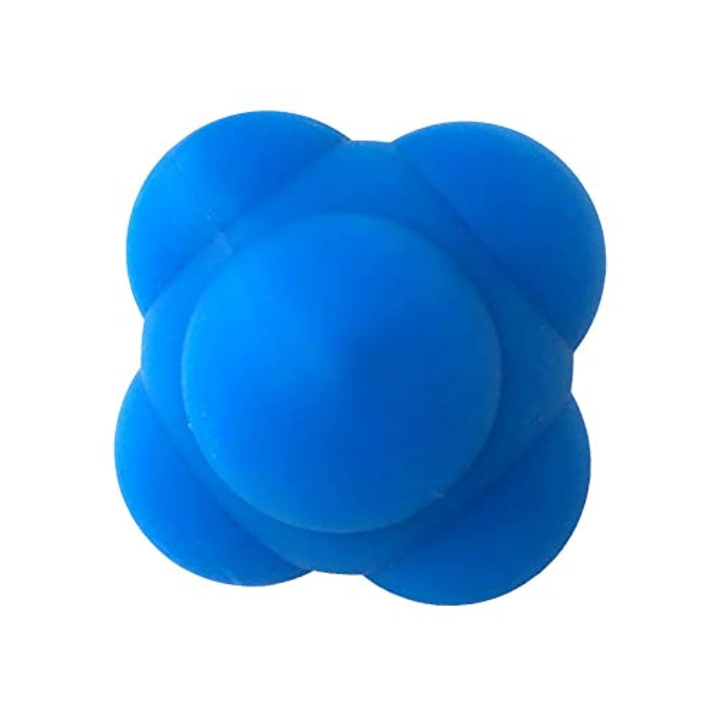 モナリザ悲観的メインHealifty 体の管理ボールスポーツシリコン六角形のボールソリッドフィットネストレーニングエクササイズリアクションボール素早さと敏捷性トレーニングボール6cm(青)