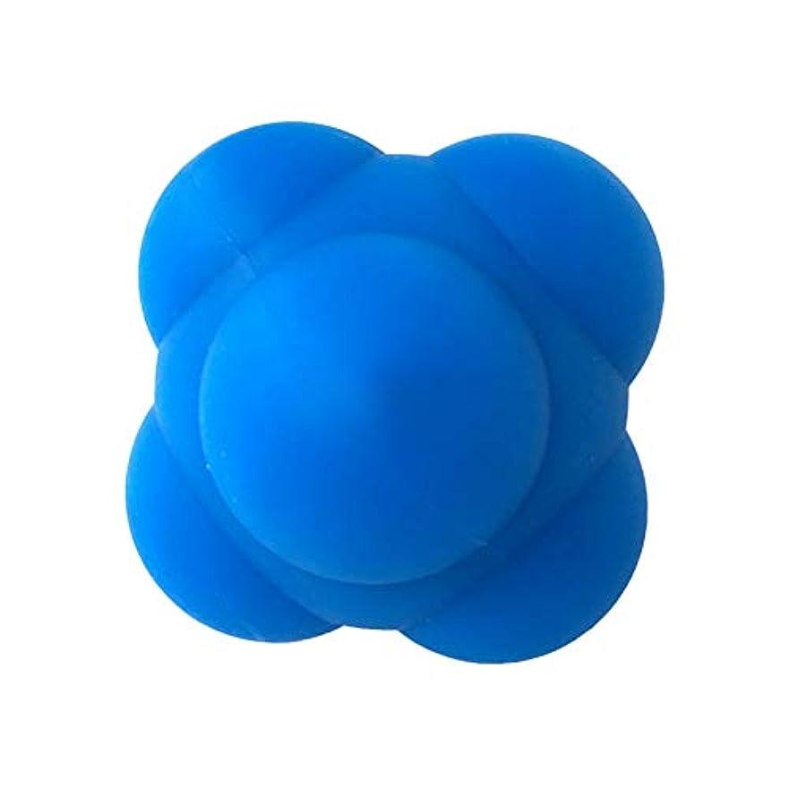 滑る慢なスズメバチHealifty 体の管理ボールスポーツシリコン六角形のボールソリッドフィットネストレーニングエクササイズリアクションボール素早さと敏捷性トレーニングボール6cm(青)