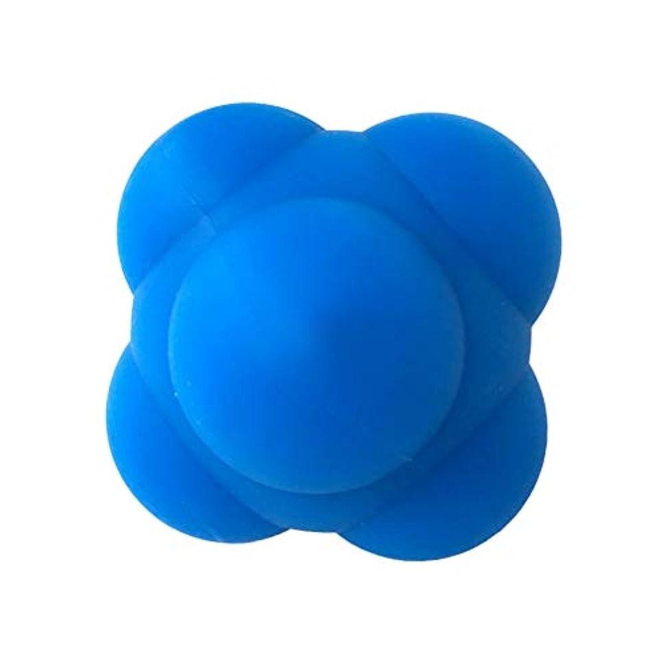 雑種狂気分析的Healifty 体の管理ボールスポーツシリコン六角形のボールソリッドフィットネストレーニングエクササイズリアクションボール素早さと敏捷性トレーニングボール6cm(青)