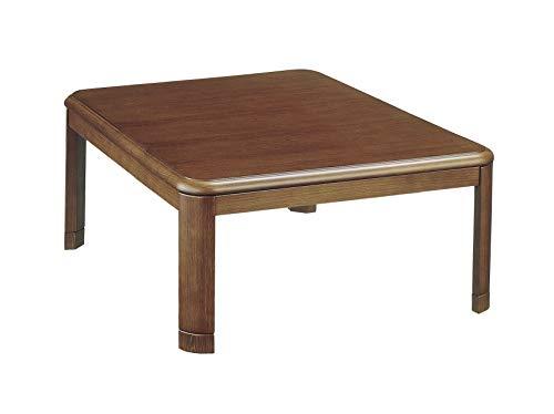 山善 家具調こたつ 天然木 継脚タイプ 高さ2段階調整 正方形 幅90cm WG-903H