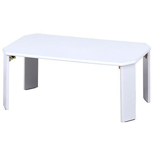 不二貿易 UVローテーブル ルーチェ 幅90cm ホワイト 12847
