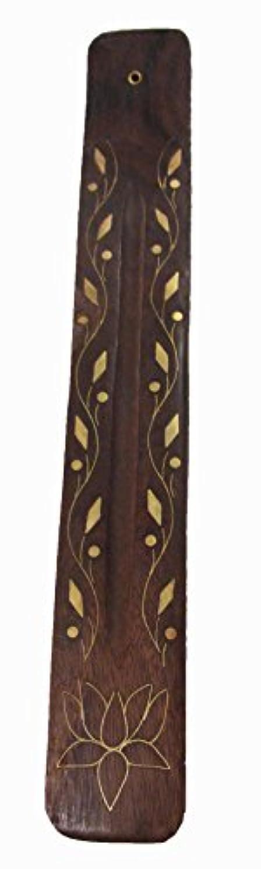 性能恐怖症フィードTriloka – Wooden Incense Holder Vine &花 – 10で。
