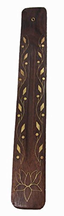 短くするペナルティ無知Triloka – Wooden Incense Holder Vine &花 – 10で。