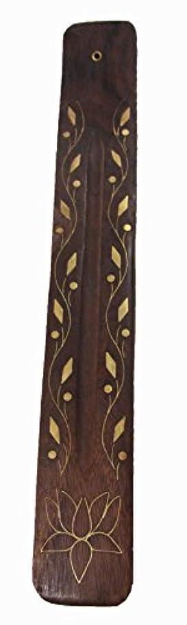 折り目反映する挑むTriloka – Wooden Incense Holder Vine &花 – 10で。