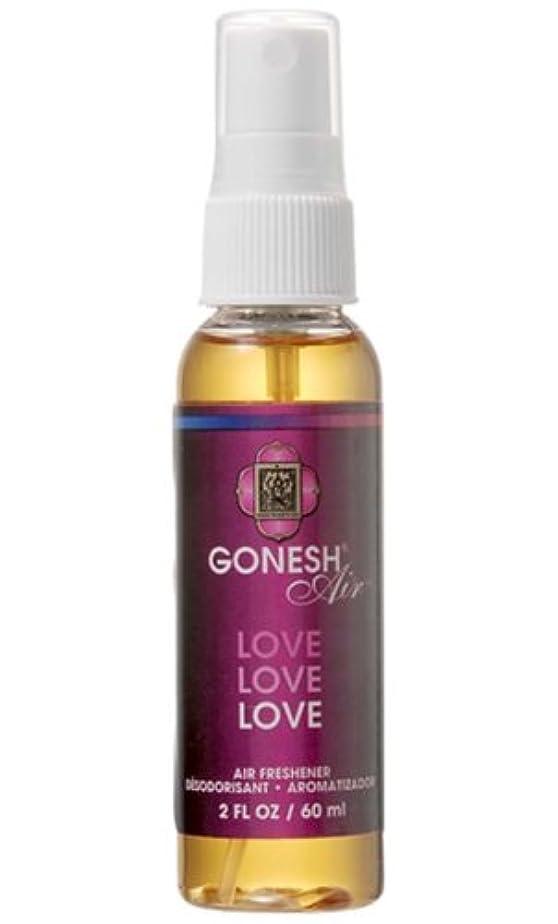 聖人弱まる数GONESH(ガーネッシュ)スプレー エアフレッシュナー ラブ 60ml (ベリーの香り)