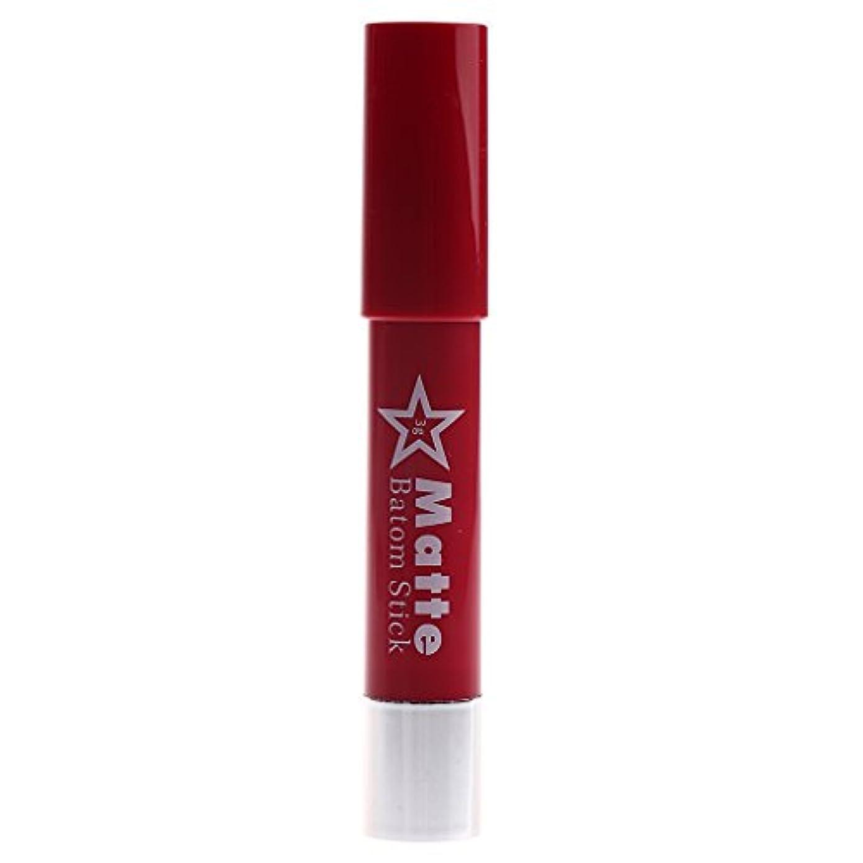 フォーク飢え燃やすToygogo 着色が容易な長続きがする防水の唇の鉛筆女性マットのビロードの口紅