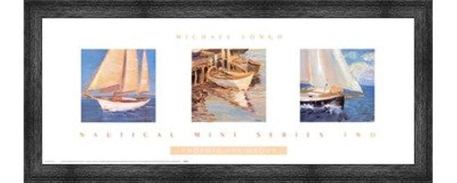 傑作ブームケーブルカーNautical Miniシリーズ2つby Michael Longo – 30 x 12インチ – アートプリントポスター LE_160417-F10588-30x12