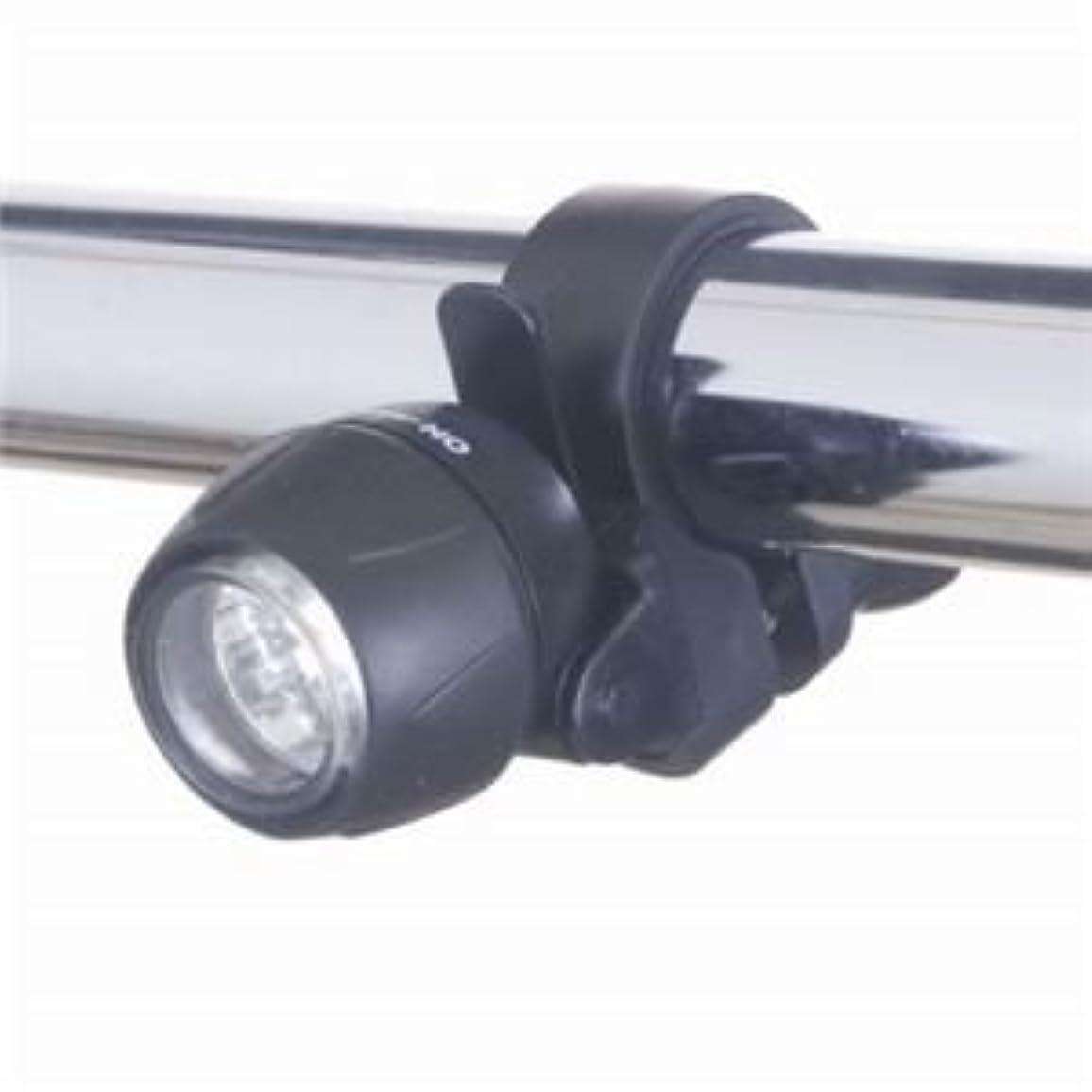 準備する覆すカブ(まとめ)自転車用LEDライト ミニタイプ 日亜製白色LED×3灯 ヤザワ LB101BK【×5セット】