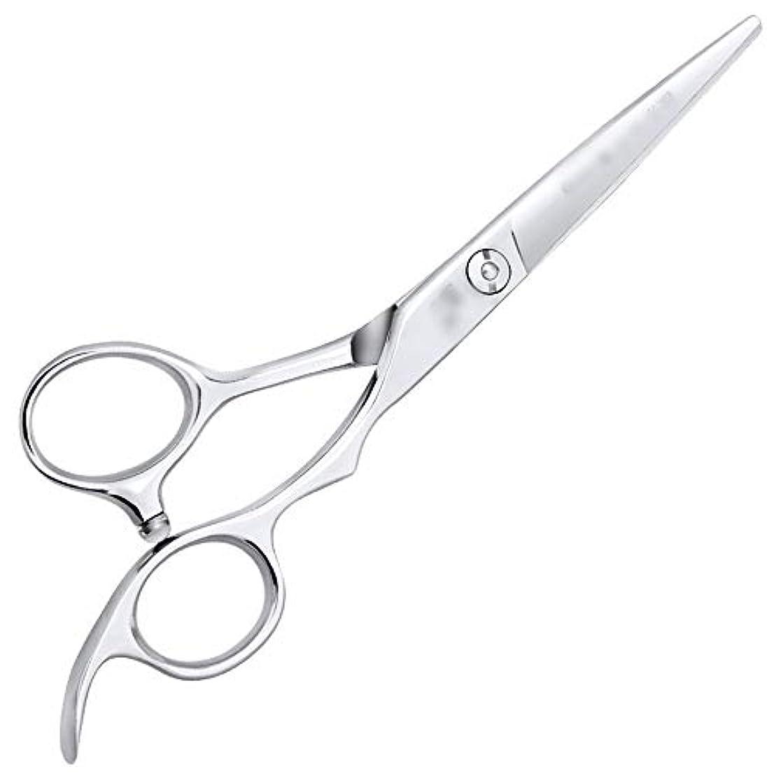 操作孤独不完全6インチ美容院ツールプロのヘアカット高品質理髪ツール モデリングツール (色 : Silver, Design : Flat)