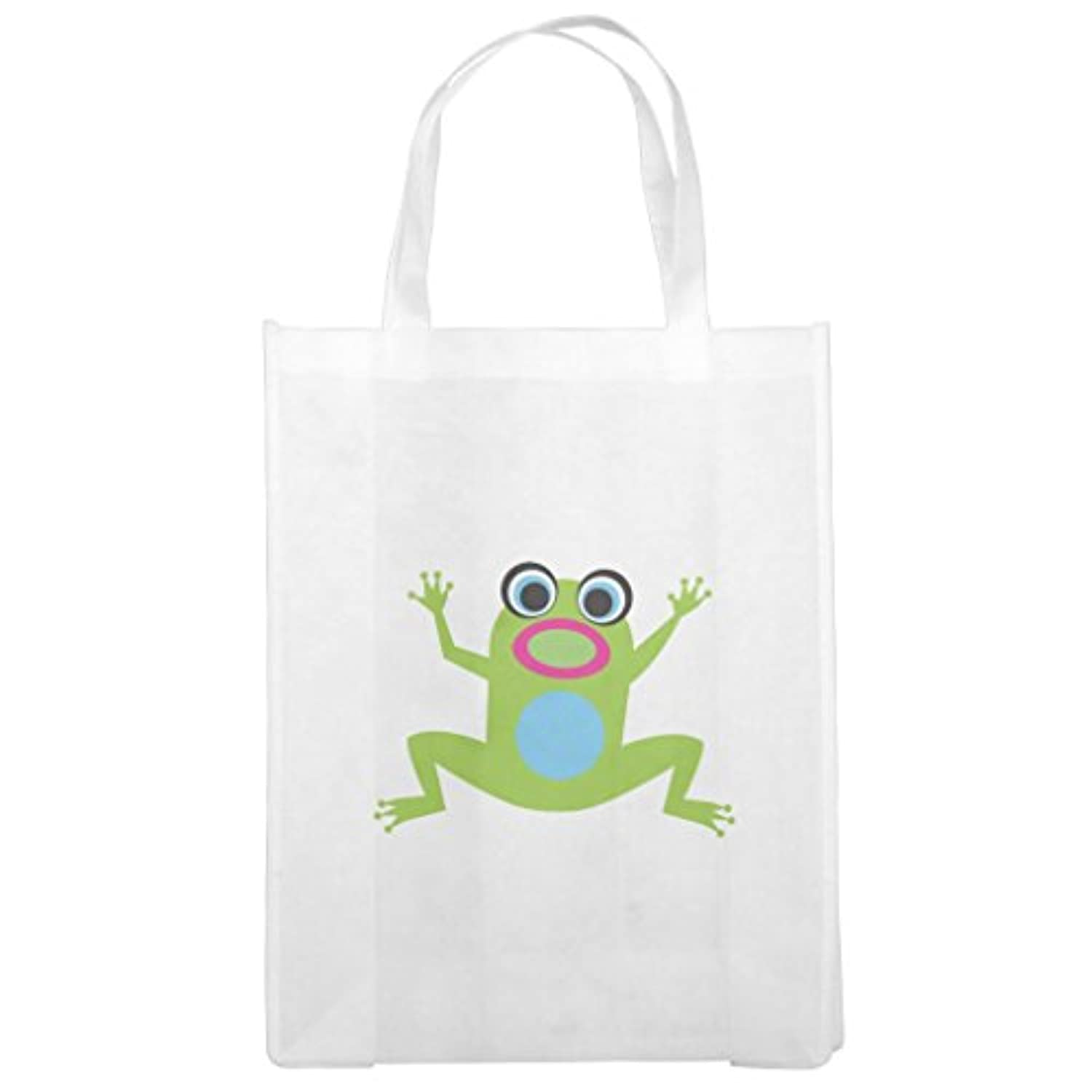 Zazzle Jumping Green FrogかわいいGrocery Bag