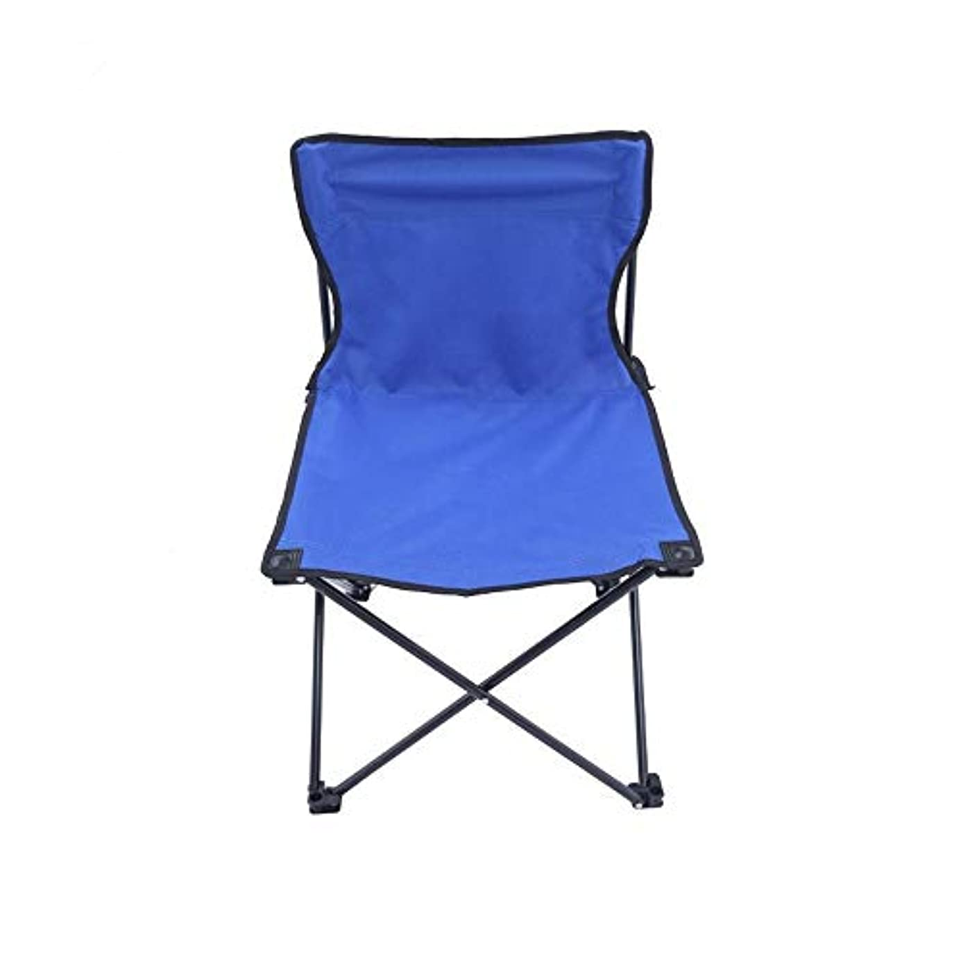 短命性別マカダム耐久の携帯用軽量の防水オックスフォードの屋外の折りたたみ椅子キャンプ釣り旅行ハイキングピクニックビーチ あらゆる種類の野外活動に適しています (色 : 青, サイズ : 45*45*70cm)