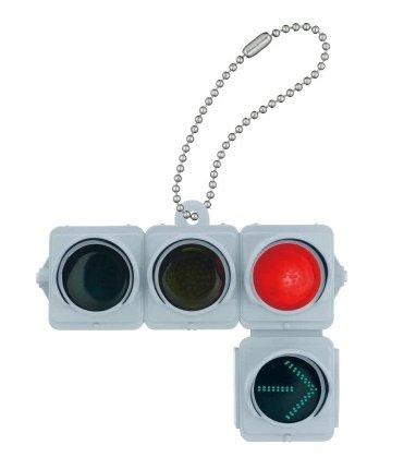 日本信号 ミニチュア灯器コレクション [2.車両用信号灯器 (矢印付/赤信号点灯)](単品)
