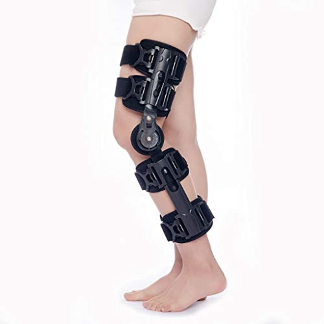 ROM膝ブレースストラップ付き、調整可能な膝スタビライザー骨折固定具傷害回復痛みを軽減するため