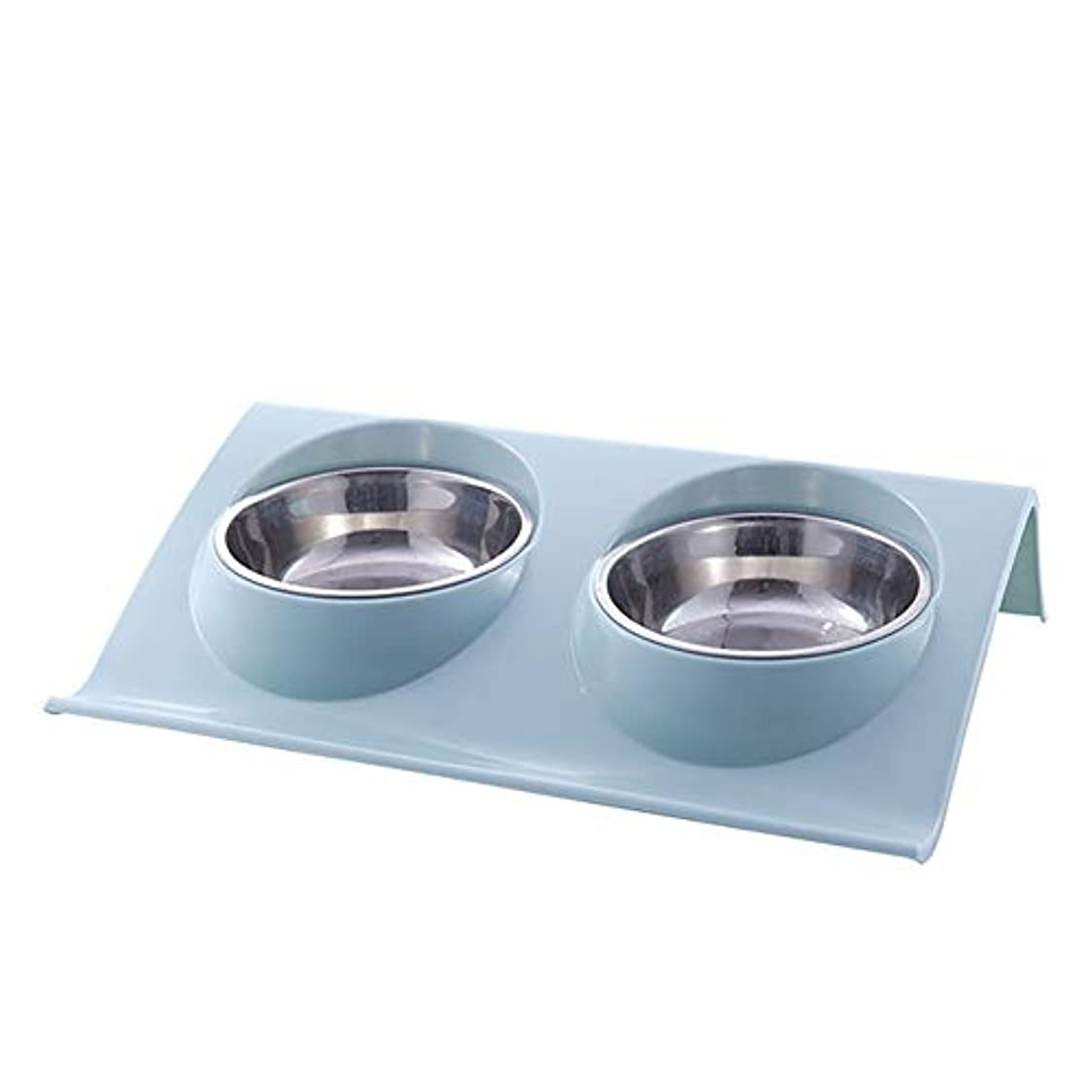 TINYPONY ペット食器 給食 給水 ダブルボウル 犬猫兼用 猫ボウル ペット 猫皿 食器スタンド 猫用食器 餌入れ 小中型犬用?猫用 食器ラック付き ステンレス