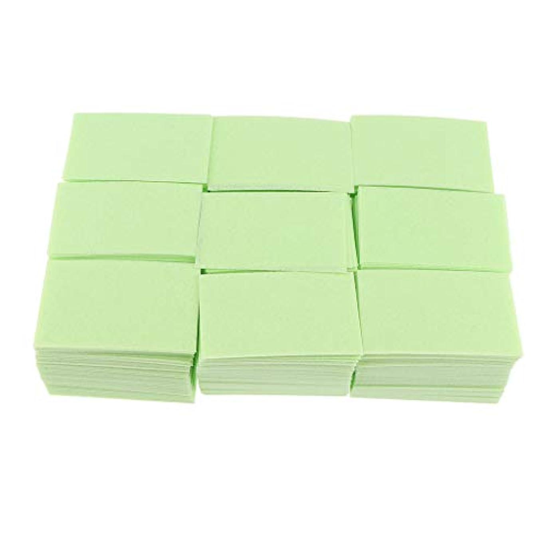 補充シェア容疑者P Prettyia 約700枚 ネイルポリッシュリムーバー 綿パッド 2色選べ - 緑
