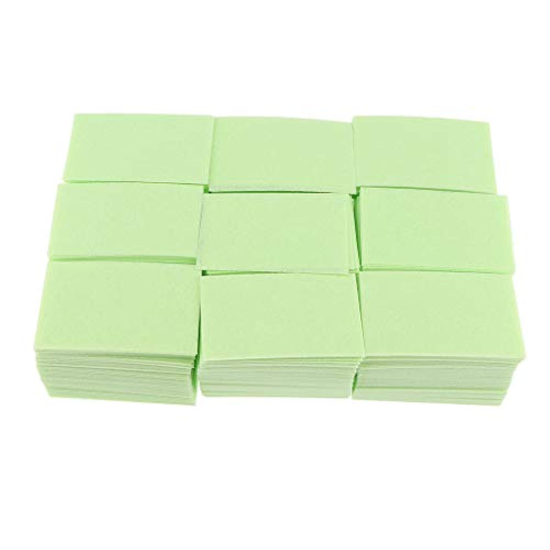 P Prettyia 約700枚 ネイルポリッシュリムーバー 綿パッド 2色選べ - 緑