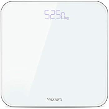 MASARU ヘルスメーター 体重計 デジタル 乗るだけ 電源自動ON/OFF バックライト付 180kgまで対応 高精度 ボディスケール(電池付属)