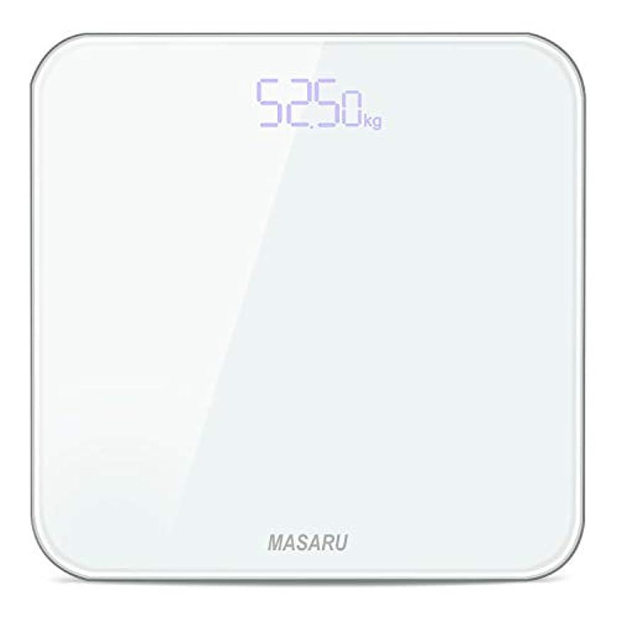 フォーク国内の思春期のMASARU ヘルスメーター 体重計 デジタル 乗るだけ 電源自動ON/OFF バックライト付 180kgまで対応 高精度 ボディスケール(電池付属)