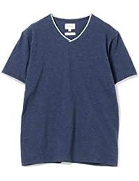 [ビームス] 半袖カットソー/ダブル カラー カットオフ Vネック Tシャツ メンズ