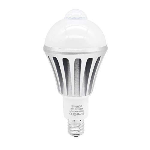 ZY センサーライト 搭載明暗センサー LED電球 昼白色 ...